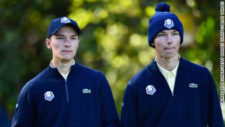 Les frères jumeaux danois Rasmus et Nicolai Hojgaard ont joué ensemble lors de la Junior Ryder Cup 2018.