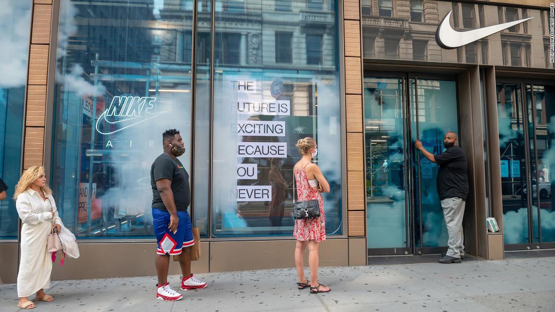 Nike shares spike 8% after blockbuster sales – CNN