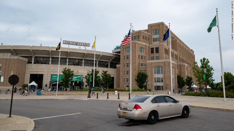 Notre Dame postpones football game after multiple student-athletes test positive for Covid-19