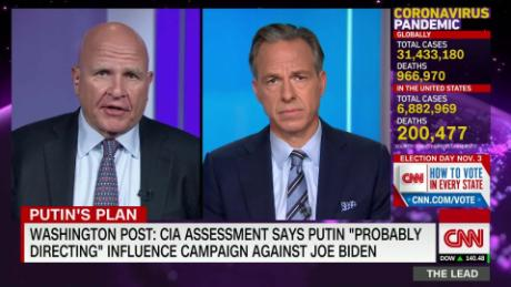 Mcmaster Putin Happy That Trump Won T Condemn Russia For The Poisoning Of Alexei Navalny Cnn Video
