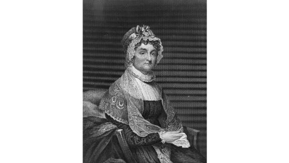 """Abigail Adams, the first second lady of the United States -- that is, the vice president's spouse -- was a prolific letter writer who left behind detailed accounts of her era.   Descendant of the well-to-do Quincys and friends with Martha Washington, Adams upheld the duty of formal hosting once husband John Adams became president. She was also known as a politically engaged sounding board for her husband, and an outspoken advocate for abolishing slavery and supporting women's rights. She famously encouraged her husband to """"remember the ladies and be more generous and favorable to them than your ancestors.""""  Served: 1797 - 1801"""