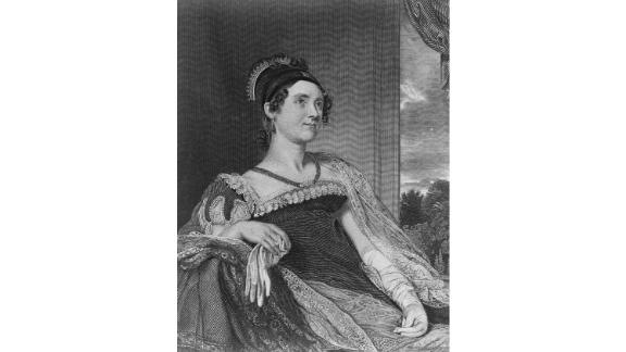 """Marrying John Quincy Adams, the nation's sixth president, meant Louisa Adams was the daughter-in-law of the second-ever FLOTUS, Abigail Adams. Louisa, born in London, was also the first first lady to be born outside of the US.   She had excellent hospitality and diplomacy skills, and acted as Adams' unofficial """"campaign manager"""" as he made his way toward the presidency.  During her tenure as first lady, however, poor health and depression from the sour politics of her husband's election took a toll.  Served: 1825 - 1829"""