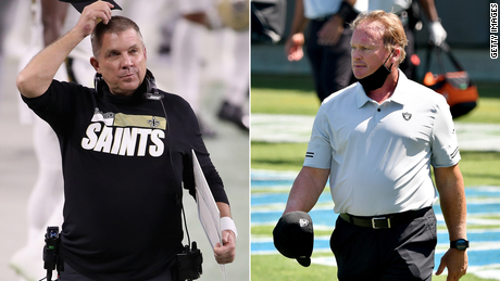 Sean Payton of the Saints and Jon Gruden of the Raiders were each fined $100,000, a league source told CNN.