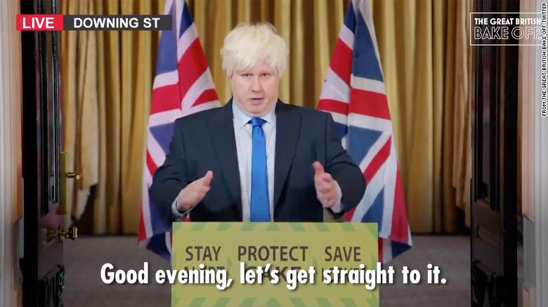 Matt Lucas revives his Boris Johnson spoof, urging viewers to 'Save Loaves' during 'Great British Bake Off' debut