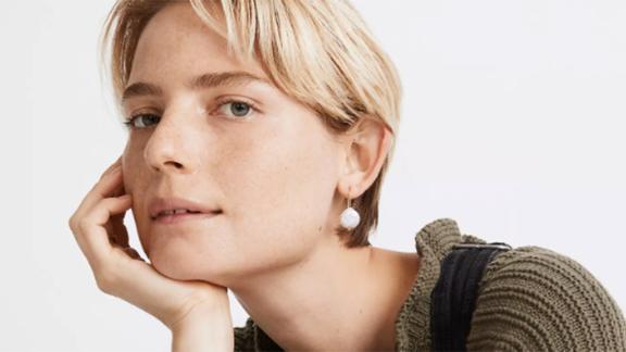 Madewell Coin Pearl Earrings