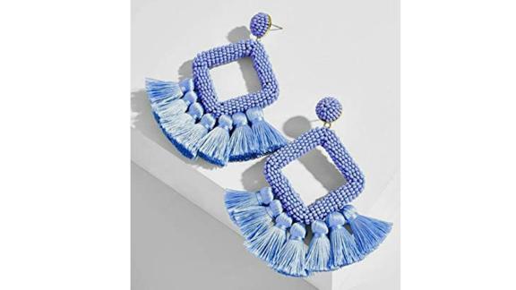 Fauoi Women's Beaded Tassel Earrings