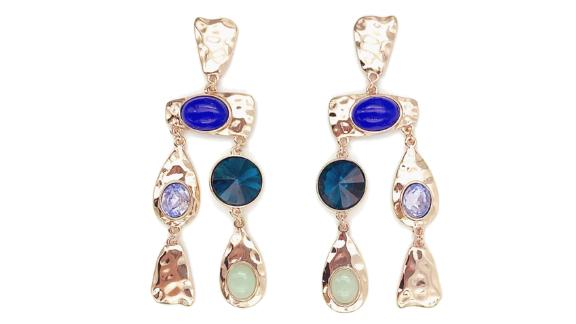 Eloquii Multicolored Textured Earrings