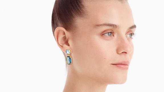 J.Crew Oval Drop Earrings