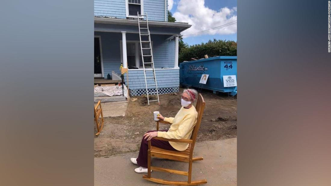 A 72-year-old woman was quietly living in a dilapidated house. Then an electrician sparked a community to help her rebuild