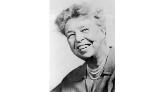 """A true trailblazer, Eleanor Roosevelt completely reimagined what it means to serve as FLOTUS.   She showed how first ladies could have massive social impact, launching press conferences; hosting radio broadcasts; and expressing her views in a syndicated newspaper column. She was also a committed -- and active -- advocate for civil rights, racial justice, gender quality and jobs for the poor. Traveling the country to see firsthand how she could help Americans, she was a first lady who put the """"serve"""" in """"service.""""   And she did all that while keeping up with the standard hostess duties. After leaving office, Roosevelt continued her work with a U.N. post, working tirelessly to create the Universal Declaration of Human Rights.  Served: 1933 - 1945"""