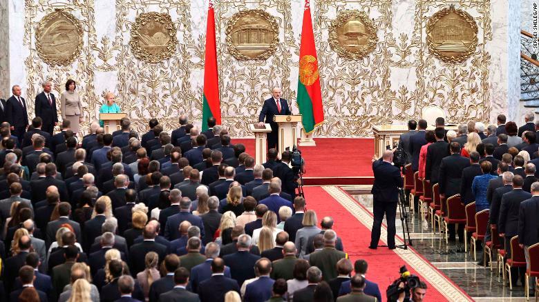 The EU says Lukashenko is not the legitimate Belarus president