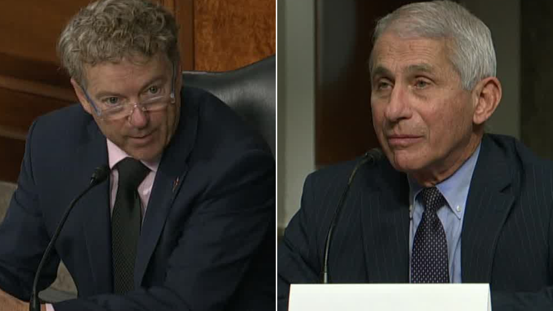 Fauci to Sen. Paul: You are not listening to what the CDC director said
