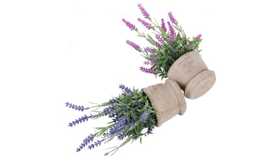 Coolmade Lavender Artificial Flower Pot, 2-Pack