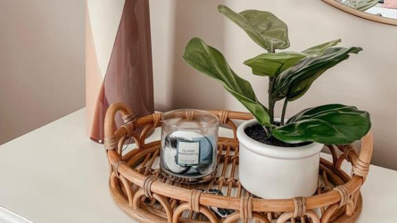 Threshold Artificial Fiddle-Leaf Fig In Ceramic Pot White