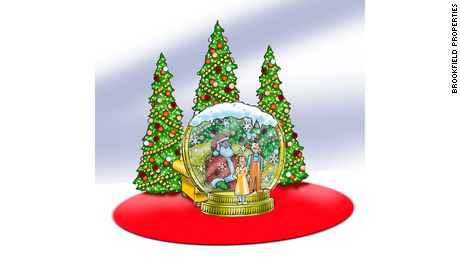 In some malls, Santa will sit inside a giant snow globe this year.