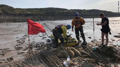 The bomb was found on the coast of the Bristol Channel.