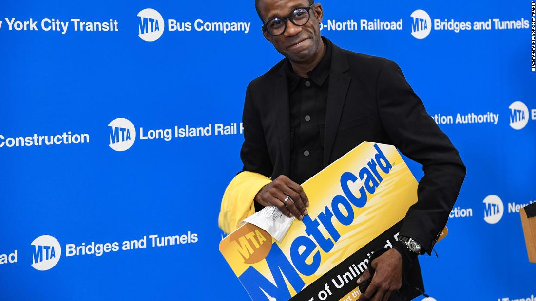 A year of free subway rides for a man who chased down and captured train derailment suspect