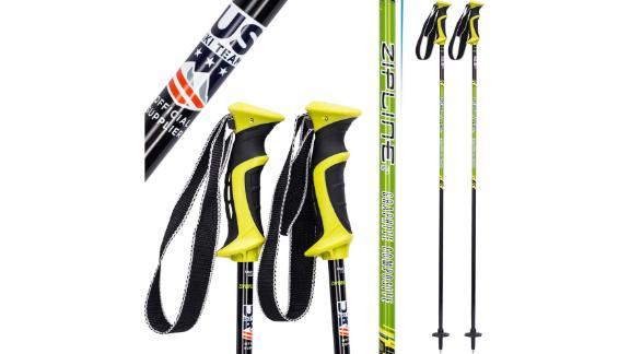 Zipline Ski Poles Graphite Carbon Composite
