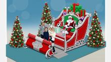 Santa will be behind protective plexiglass in some malls.