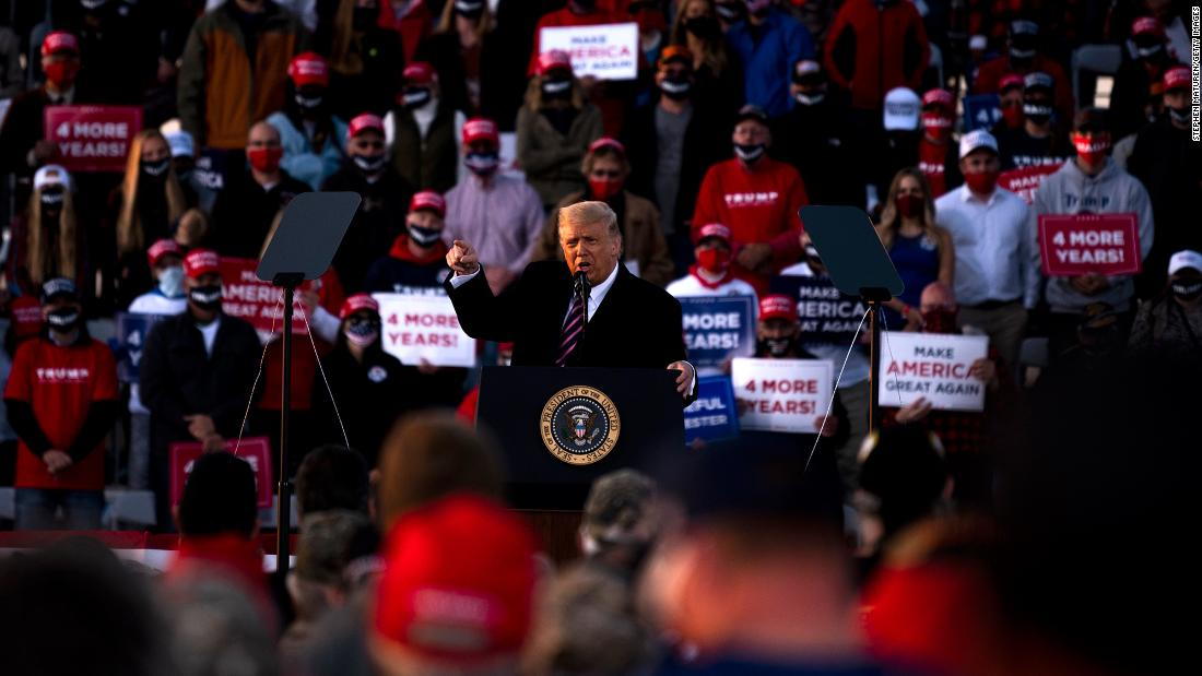 Minnesota reports three Covid-19 outbreaks related to Trump campaign events in September