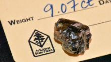The 9.07 carat diamond found in Crater of Diamonds State Park.