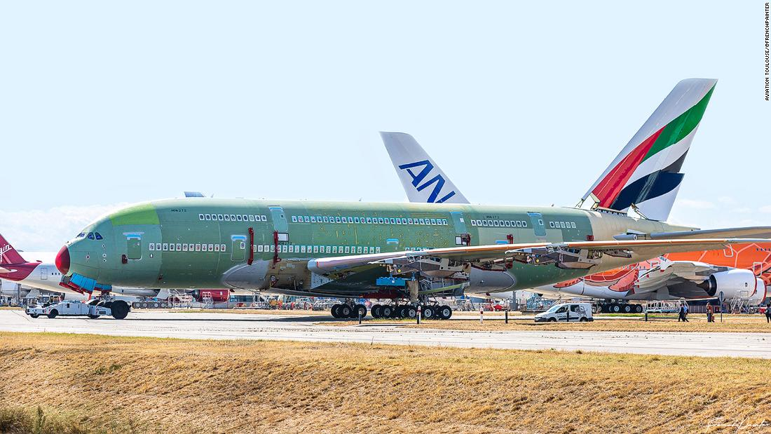 Last ever Airbus A380 superjumbo assembled in France