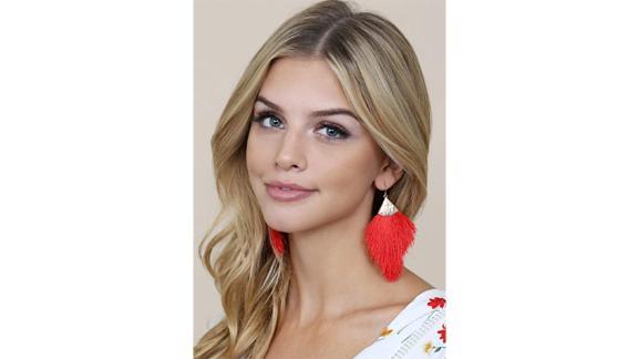 Riah Fashion Bohemian Tassel Statement Drop Earrings
