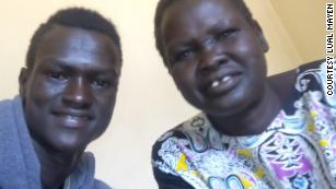 Lual and his mother, Nyantet Machot.