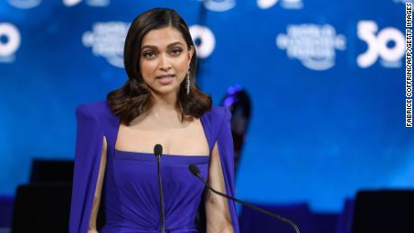 Indian actress Deepika Padukone at the World Economic Forum annual meeting in Davos, on January 20.