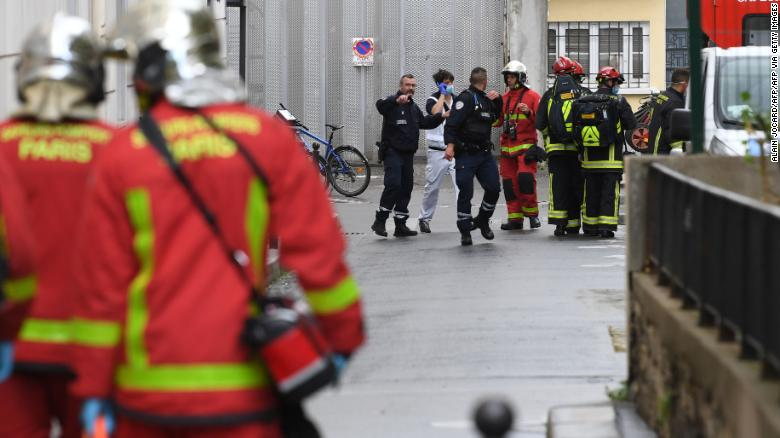 Four injured in Paris knife attack near Charlie Hebdo's former office