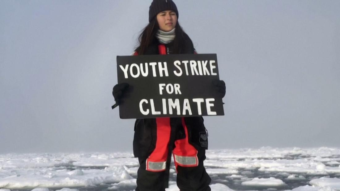 Teenager stages Arctic school strike for the climate – CNN Video
