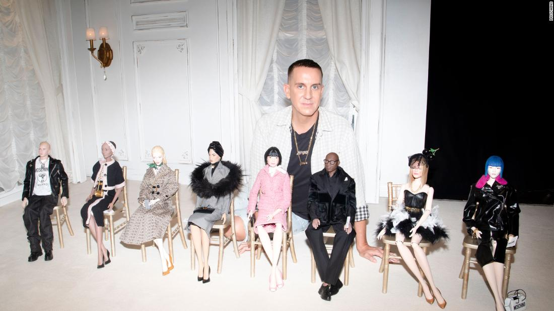 What fashion designer show staged with puppets