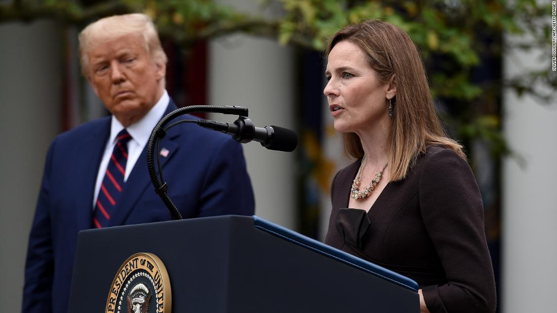 Trump's Supreme Court nominee Amy Coney Barrett was diagnosed with coronavirus this summer – CNN