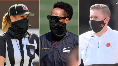 Dos entrenadoras y oficiales femeninas simultáneamente hacen historia en la NFL en el campo