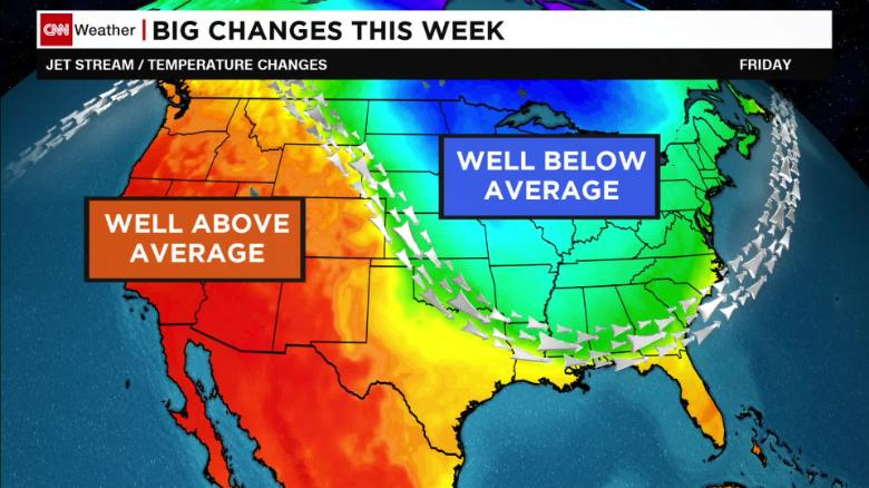 Weather Map Forecast Us US temperature drop forecast for this week   CNN