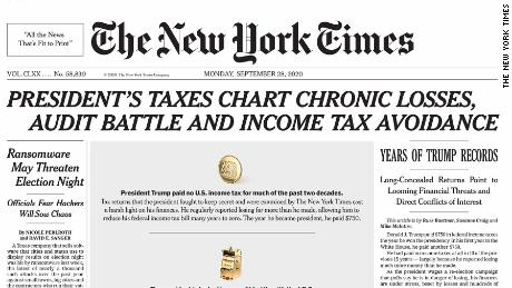 Analysis The New York Times Coverage Of Trump S Taxes Is An Emperor Has No Clothes Moment Cnn