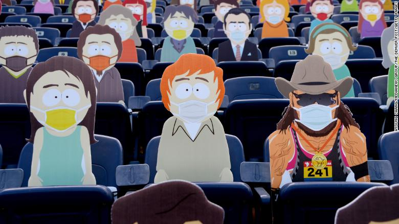 'South Park' town showed up to watch the Denver Broncos game
