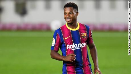 Ansu Fati was the star of the show for Barcelona in its victory over Villarreal.