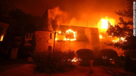 The famous California winery was destroyed when fast-paced fires took over the wine country
