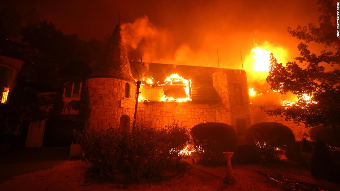 Famed California winery destroyed as fast-moving fires take over wine country – CNN
