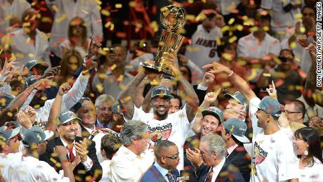 LeBron James and the Lakers will face the Miami Heat in the 2020 NBA Finals, the team with which James won his first  two NBA Championships.