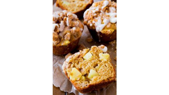 Glazed Apple Crumb Muffins by Sally McKenney
