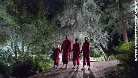 "A family is attacked by mysterious doppelgangers in Jordan Peele's ""Us."""