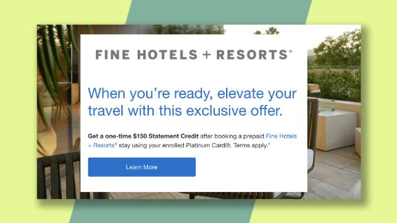 Get a $150 statement credit when spending $800 or more in Amex