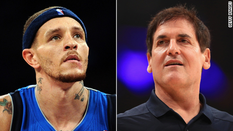 Mavericks owner Mark Cuban (right) has reached out to help former player Delonte West