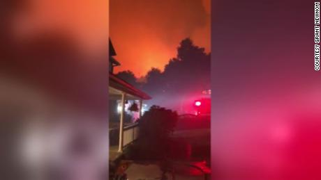 California firefighter finishes 60-hour shift and then rushes to help save his girlfriend's parents' home