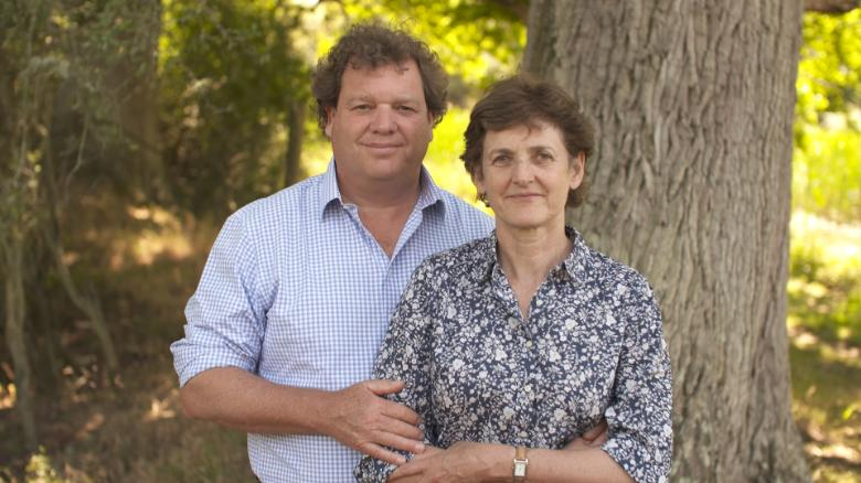 Knepp estate's owners, Charlie Burrell and Isabella Tree.
