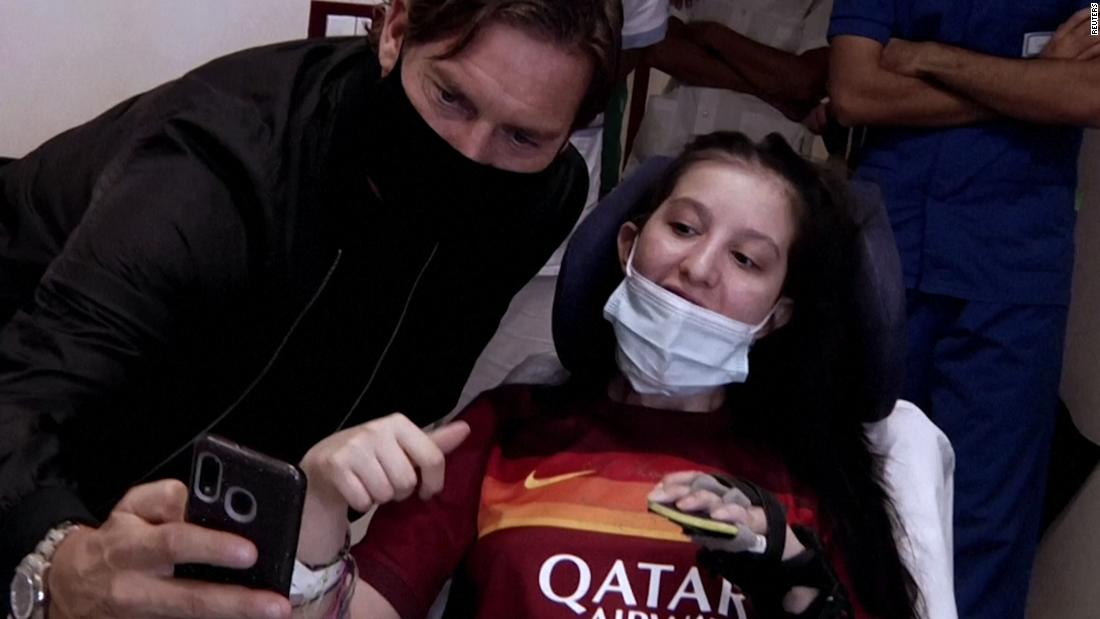Francesco Totti visits fan he helped wake from a coma