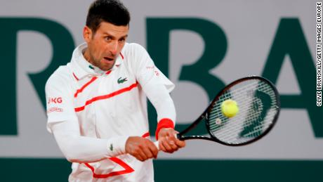 Djokovic was playing in his first grand slam match since the US Open.