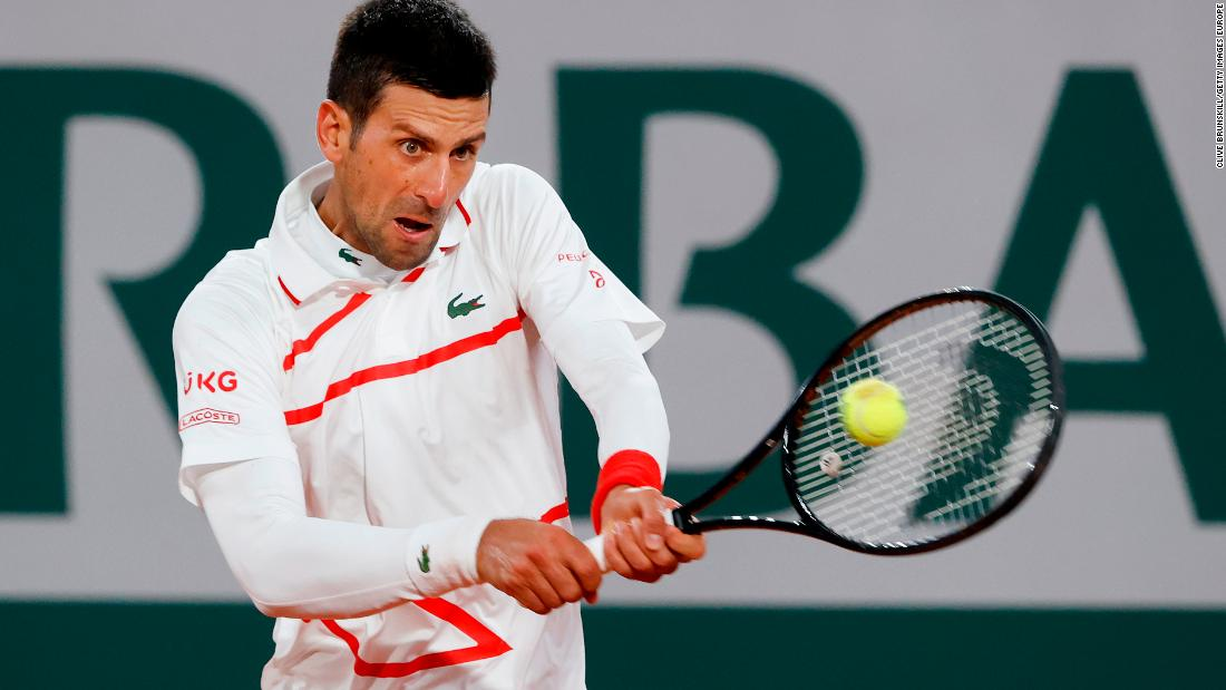 Novak Djokovic Powers To Victory In The French Open First Round Cnn